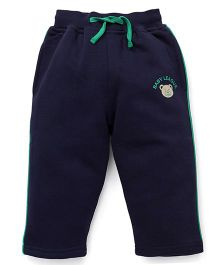 Baby League Full Length Track Pants With Drawstring - Navy