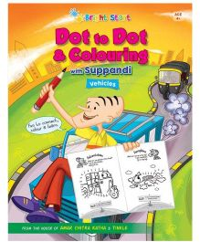 Dot to Dot & Colouring Vehicles With Suppandi - English