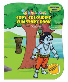 Copy-Colouring Cum Story Book With Krishna - English