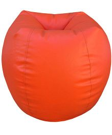 Orka Bean Bag Filled Orange - Large