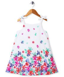 Mothercare Singlet Floral Frock - White