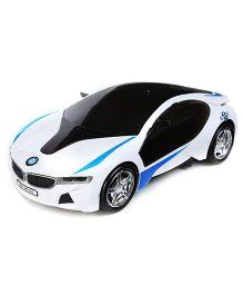 Kumar Toys Magic Light Bump And Go Car - White And Black