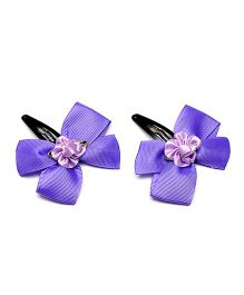 Ribbon Candy Bow With Rose Tic Tacs - Purple
