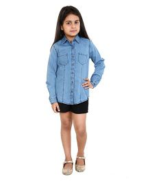 Chatterbox Smart Denim Shirt - Blue