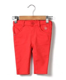 Beebay Trouser B Logo Embroidery - Red