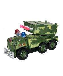 Adraxx Dart Rocket Launcher Armored Military Remote Controlled Truck Toy- Green