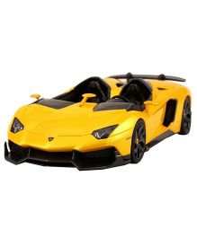 Adraxx  Metal Die Cast Remote Controlled Convertible Lamborghini Car Toy - Yellow