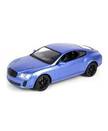 Adraxx Metal Die Cast  Remote Controlled Convertible Bentley Car Toy - Blue