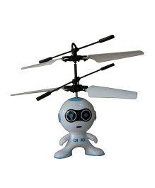 Adraxx Palm Control Flying Heli Bot - Blue
