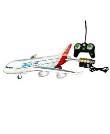 Adraxx Remote Controlled Airbus Rolling Model With Light And Sound - White