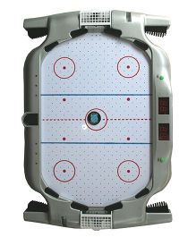 Adraxx Desktop Interactive Electronic Air Suspension Hockey Game With Auto Score - Grey