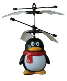 Adraxx Palm Control Flying Heli Penguin Toy - Black