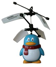 Adraxx Palm Control Flying Heli Penguin Toy - Blue