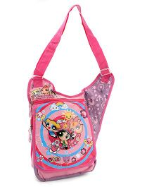 Power Puff Girls Messenger Sling Bag - Pink And Purple