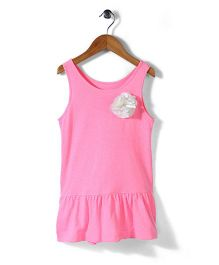 Mothercare Sleeveless Top Floral Applique - Pink