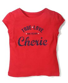 Mothercare Short Sleeves Top Cherie Print - Red