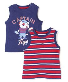 Mothercare Sleeveless Vest Set of 2 - Red Navy