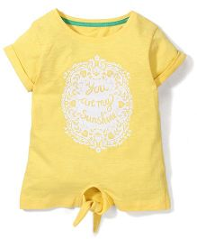 Mothercare Short Sleeves Top Sunshine Print - Yellow