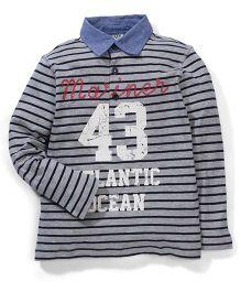 Sela Full Sleeves Polo T-shirt - Grey