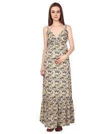 Oxolloxo Sleeveless Maternity Maxi Dress - Small