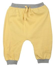 My Lil Berry Dual Color Plain Legging - Yellow & Grey
