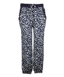 My Lil Berry Relaxed Fit Pants - Blue & White