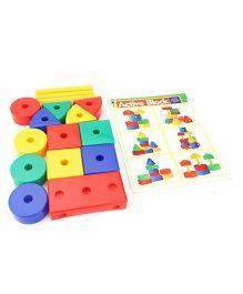 Ratnas Educational Blocks Set - 17 Pieces