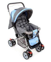 Mee Mee Pram Cum Stroller - Blue and Grey