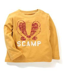 Mothercare Full Sleeves Graphic Print T-Shirt - Yellow