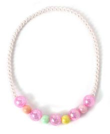 Milonee Crystal Beads With Pearls Necklace - Pink