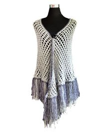 Magic Needles Shimmer Party Shawl - Grey