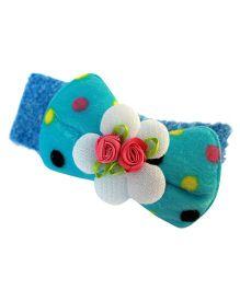 Many Frocks & Strechable Bow Headband - Blue