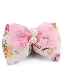 Nena Flower With Pearl Hair Clip - Pink
