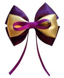 Keira's Pretties Bow Hair Clip - Purple & Gold