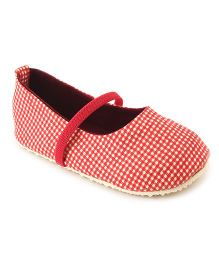 Nena Belly Shoes With Elastic Strap - Red