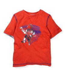 Mothercare Half Sleeves Graphic T-Shirt - Orange