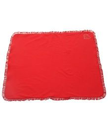 Glow Frilled Baby Blanket - Red