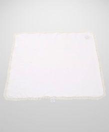 Glow Frilled Baby Blanket - White