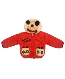 Kuddle Kids Panda Motif Hooded Jacket - Red