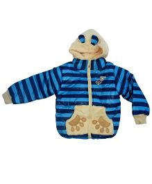 Kuddle Kids 3D Bear Motif Jacket - Light Blue & Navy Blue