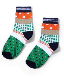 Cute Walk by Babyhug Ankle Length Socks - Multi Color