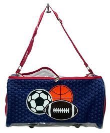 Thought Counts Football Sports Bag & Pouch - Navy Blue