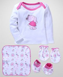 Wonderchild Baby Clothing Set - White & Pink