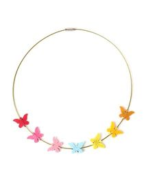 Chotee Tiny Butterfly Necklace - Multicolour