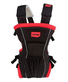 Luv Lap Blossom 2 Way Baby Carrier Black And Red - 18173