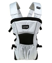 Luv Lap Blossom 2 Way Baby Carrier Grey And Black - 18176