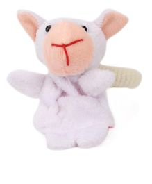 Nena Animal Soft Toy Design Rubber Bands - White