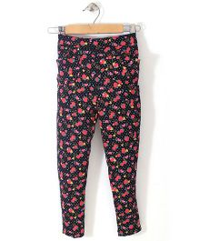 Chic Girls Strawberry Printed Pant - Black & Red