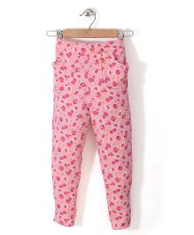 Chic Girls Strawberry Printed Pant - Pink