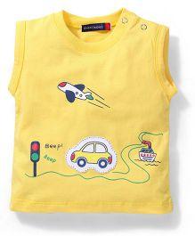 Great Babies Sleeveless T Shirt City Print - Yellow